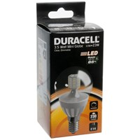 Duracell  LED Clear Mini Globe Light Bulb - 3.5W SES