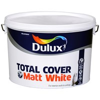 Dulux  Total Cover Matt White - 10 Litre