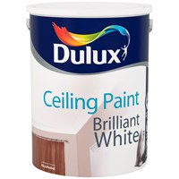 Dulux  Ceiling Paint Matt Brilliant White - 5 Litre