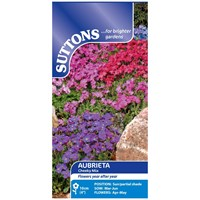 Suttons  Aubrietia Cheeky Mix Flower Seeds