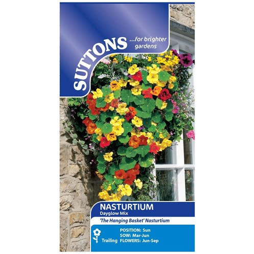 Suttons  Nasturtium Dayglow Mix Flower Seeds