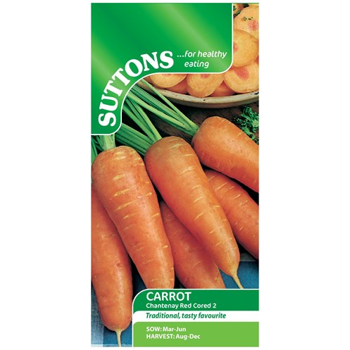 Suttons  Carrot Chantenay Red Cored 2 Vegetable Seeds