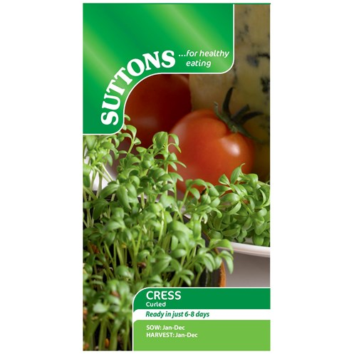 Suttons  Cress Curled Vegetable Seeds