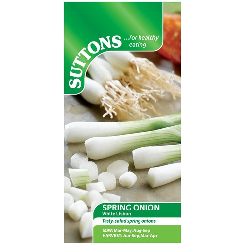 Suttons  Spring Onion White Lisbon Vegetable Seeds