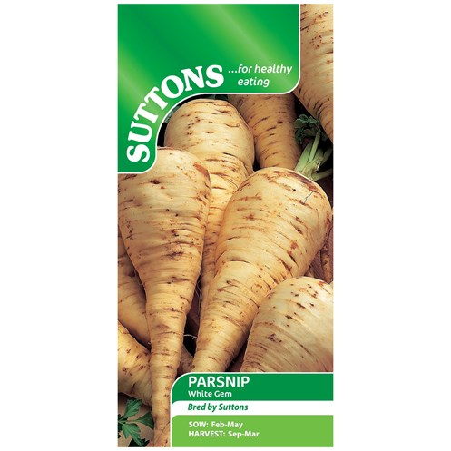 Suttons  Parsnip White Gem Vegetable Seeds