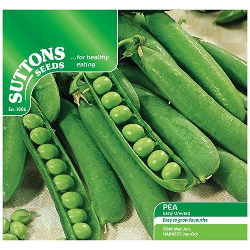 Suttons  Pea Early Onward Vegetable Seeds