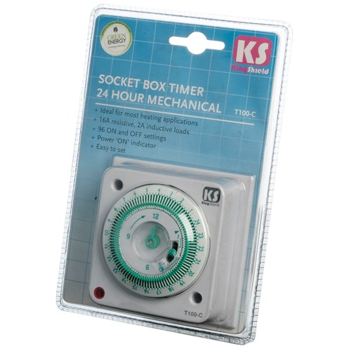 Kingshield  24 Hour Socket Box Timer - 16 Amp