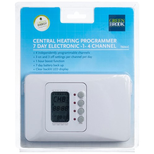 Kingshield  7 Day 1-4 Channel Electronic Timer - 3 Amp