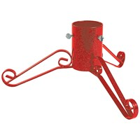 Bosmere  Traditional Red Metal Christmas Tree Stand - 5in