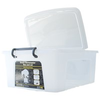 Strata  Smart 24 Litre Storage Box with Lid - Clear