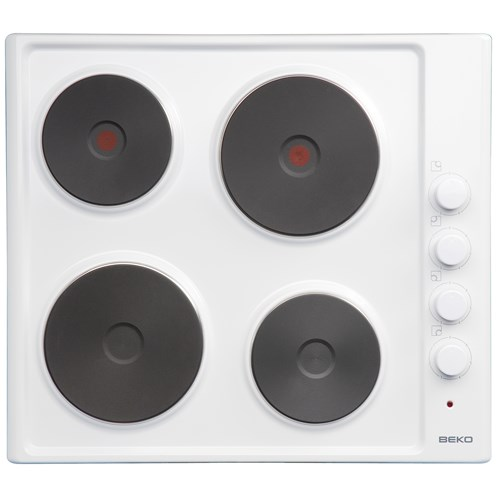 Beko  Built-in Solid Plate Electric Hob White - HIZE64101