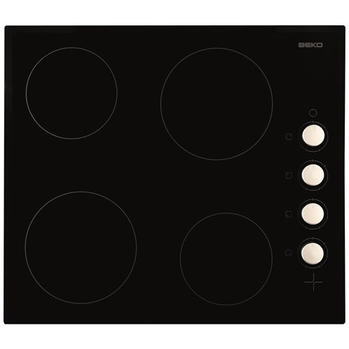 Beko  Built-in Ceramic Electric Hob Black - HIC64102