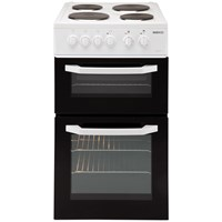 Beko  Freestanding Twin Cavity Electric Cooker White - BD531A
