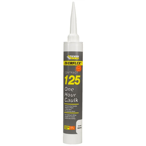 Everbuild  125 One Hour Caulk 400ml - White
