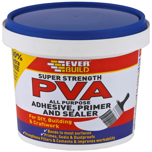 Everbuild  Super Strength PVA Adhesive & Sealer - 250ml + 30% Extra Free