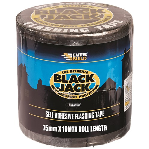 Everbuild Black Jack Self Adhesive Flashing Tape - 75mm x 10m