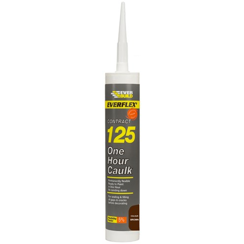 Everbuild  125 One Hour Caulk 310ml - Brown
