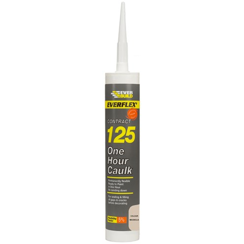 Everbuild  125 One Hour Caulk 310ml - Magnolia