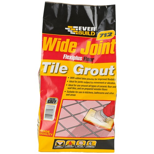 Everbuild  712 Wide Joint Grout Flexiplus - 5kg