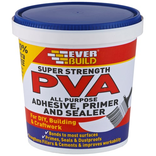Everbuild  Super Strength PVA Adhesive & Sealer - 600ml + 30% Extra Free