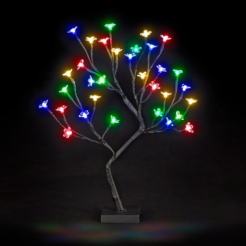 Snowtime  LED Cherry Blossom Tree Multi-Coloured - 45cm