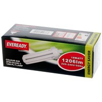 Eveready  Fluorescent 2 Pin Tube Light Bulb - 18W PL-T