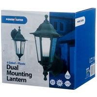 Powermaster  6 Sided Dual Mounting Wall Lantern Black - 60W