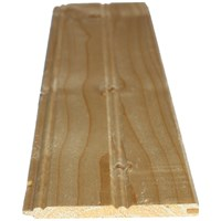 Picton  White Deal 7mm Tongue & Groove Cladding Centrebead