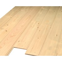 Picton  White Deal 7mm Tongue & Groove Cladding Plain