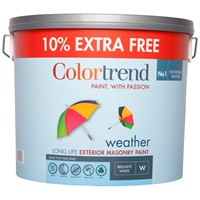 Colortrend  Weather Exterior Masonry Colours Paint - 10 Litre + 10% Extra Free