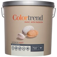 Colortrend  Interior Matt Pure Brilliant White Paint - 10 Litre