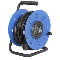 Powermaster  50m Open Cable Reel Cassette - 13 Amp 2 Gang