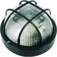 Elro  Bulkhead Light Round - Black